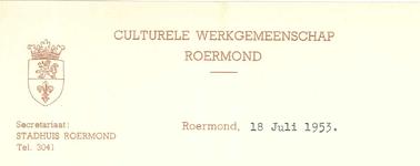 295 Culturele Werkgemeenschap, 1953