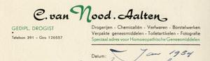 0043-0119 C. van Nood Gedipl. Drogist Drogerijen - Chemicaliën - Verfwaren - Borstelwerken - Verpakte geneesmiddelen - ...