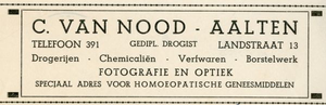 0043-0120 C. van Nood Gedipl. drogist Drogisterijen - Chemicaliën - Verfwaren - Borstelwerk Fotografie en Optiek ...