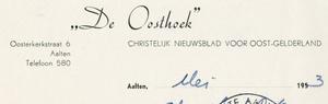 0043-0121 'De Oosthoek' Christelijk nieuwsblad voor Oost-Gelderland