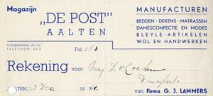 0043-0126 Magazijn De Post Manufacturen Bedden - Dekens - Matrassen Dames confectie en Modes Bleyle-artikelen Wol- en ...
