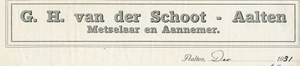 0043-0136 G.H. van der Schoot Meselaar - Aannemer