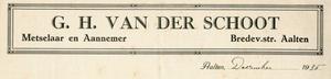 0043-0137 G.H. van der Schoot Meselaar - Aannemer