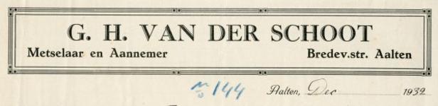 0043-0138 G.H. van der Schoot Meselaar - Aannemer