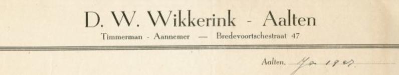 0043-0143 D.W. Wikkerink Timmerman - Aannemer