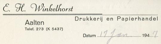 0043-0144 E.H. Winkelhorst Drukkerij en Papierhandel