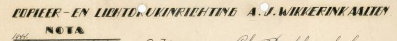0043-0147 Copieer- en Lichtdrukinrichting A.J. Wikkerink
