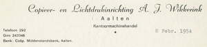 0043-0149 Copieer- en Lichtdrukinrichting A.J. Wikkerink Kantoormachinehandel