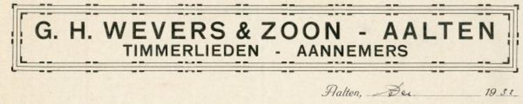 0043-0151 G.H. Wevers & Zoon Timmerlieden - Aannemers