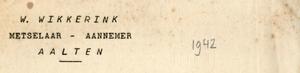 0043-0156 W. Wikkerink Metselaar - Aannemer