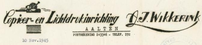 0043-0157 Copieer- en Lichtdrukinrichting A.J. Wikkerink
