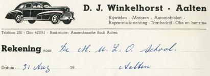 0043-0158 D.J. Winkelhorst Rijwielen - Motoren - Automobielen Reparatie-inrichting - Taxibedrijf - Olie- en benzine