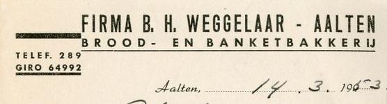 0043-0160 Firma B.H. Weggelaar Brood- en Banketbakkerij