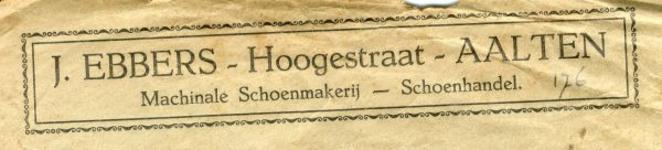 0043-0176 J. Ebbers Machinale Schoenmakerij - Schoenhandel