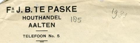 0043-0185 Fa. J.B. te Paske Houthandel