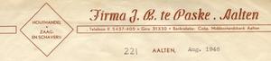 0043-0220 Firma J.B. te Paske Houthandel Zaag- en Schaverij