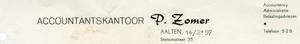 0043-0228 Accurantiekantoor P. Zomer