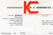 0043-0283 Installatiebedrijs W.A. Kemkens B.V.