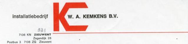 0043-0331 Installatiebedrijf W.A. Kemkens B.V.