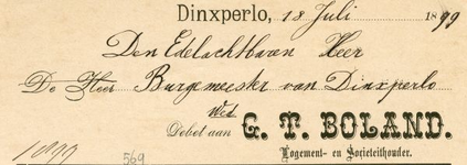 0043-0569 G.T. Boland Logement en Societeithouder