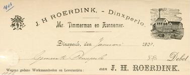 0043-0579 J.H. Roerdink Mr. Timmerman en Aannemer