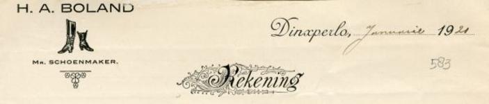 0043-0583 H.A. Boland Mr. Schoenmaker