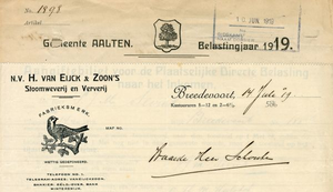 0043-0586 N.V. H. van Eijck & Zoon's Stoomweverij en Ververij