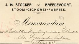 0043-0594 J.M. Stöcker Stoom- Cichorei-Fabriek