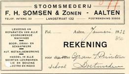 0043-0850 F.H. Somsen % Zonen Stoomsmederij