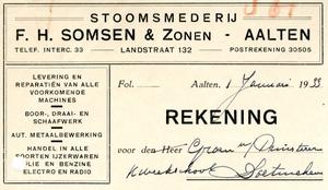 0043-0922 F.H. Somsen & Zonen Stoomsmederij