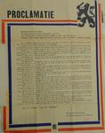 1095 Proclamatie uitgaande van de Vertrouwensmannen der Regeering op den dag der bevrijding houdende de tekst over de ...