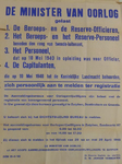 1097 Openbare kennisgeving uitgaande van D.W. Jansen Venneboer, reserve-kapitein der Infanterie, namens de Minister van ...