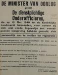 1100 Openbare kennisgeving uitgaande van D.W. Jansen Venneboer, reserve-kapitein der Infanterie, namens de Minister van ...