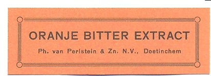 065 Oranje Bitter Extract. Ph. van Perlstein & Zn NV Doetinchem