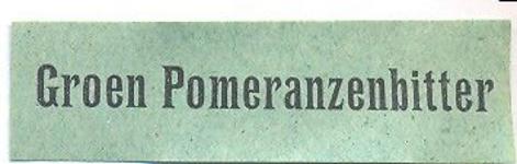 072 Groen Pomeranzenbitter. [Ph. van Perlstein & Zn NV]