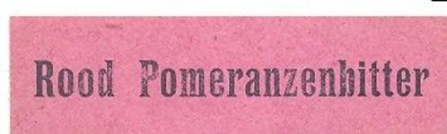 073 Rood Pomeranzenbitter. [Ph. van Perlstein & Zn NV]