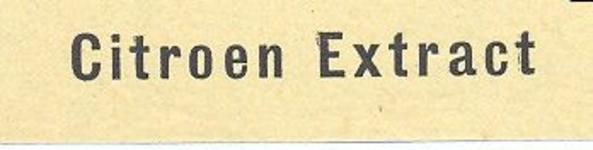 076 Citroen Extract. [Ph. van Perlstein & Zn NV]