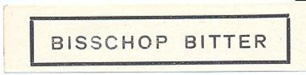 087 Bisschop Bitter. [Ph. van Perlstein & Zn NV]