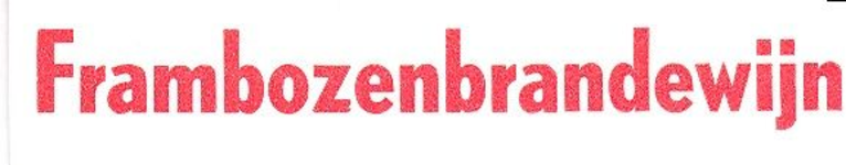 088 Frambozenbrandewijn. [Ph. van Perlstein & Zn NV]