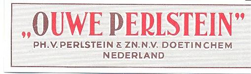 089 Ouwe Perlstein . Ph. van Perlstein & Zn NV Doetinchem Nederland