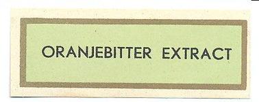 091 Oranjebitter Extract. [Ph. van Perlstein & Zn NV]