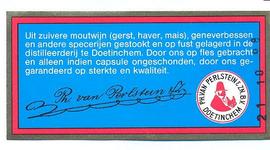 101 Uit zuivere moutwijn (gerst, haver, mais), geneverbessen en andere specerijen gestookt en op fust gelagerd in de ...