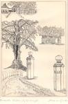 007 Havezate Het Waliën met o.a. de ruïne van het in 1908 afgebrande huis (rechts)
