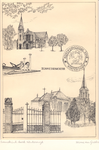 008 Van boven naar beneden: Gereformeerde kerk aan de Zonnebrink; tegenover de gereformeerde kerk gelegen kunstwerk ...