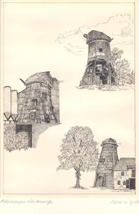 014 Van boven naar beneden: Molen De Vrees; molen De Bataaf; molen De Oude of Venemansmolen