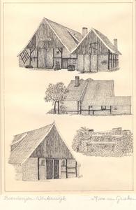 015 O.a. boerderij Bothoek in Brinkheurne (boven); schuur en herinneringsbank in Corle (onder)