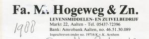 0684-1155 Fa. M. Hogeweg & Zn. Levensmiddelen- en Zuivelbedrijf