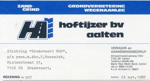 0684-1166 Hoftijzer B.V. Zand- Grind Grondverbetering Wegenaanleg