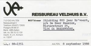 0684-1170 Reisbureau Veldhuis BV