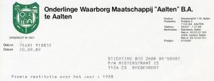 0684-1172 Onderlinge Waarborg Maatschappij 'Aalten' BA